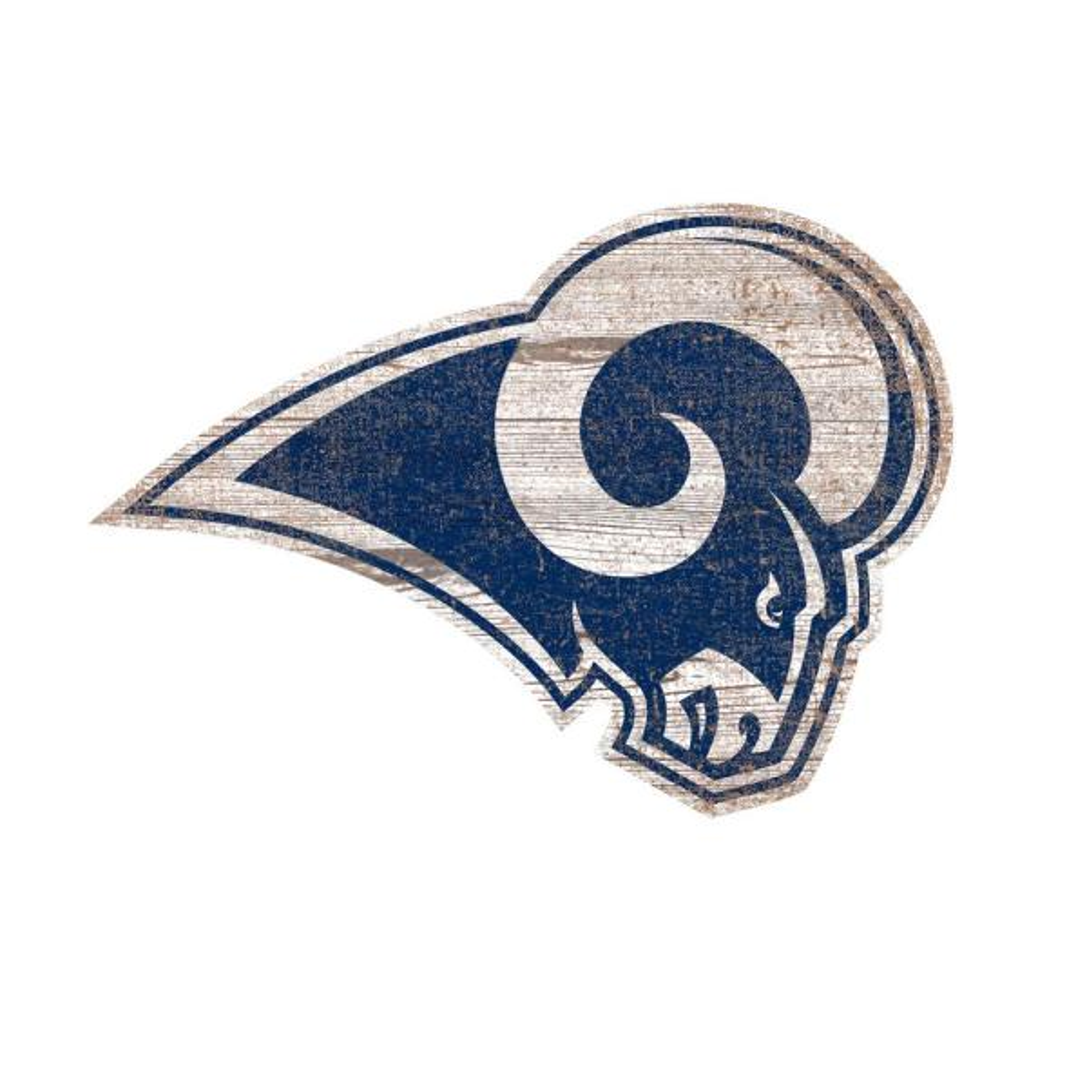 5ea5b2b89 Adventure Furniture NFL Indoor Los Angeles Rams Distressed Logo Cutout Wood  Sign