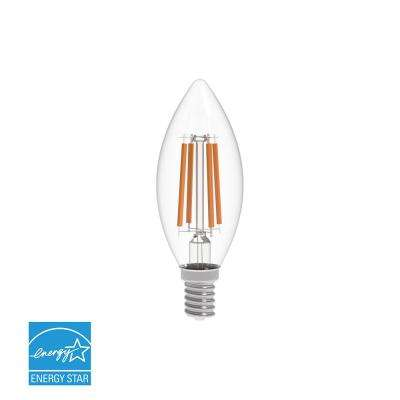 40W Equivalent Warm White (2700K) B10 Dimmable Clear LED Light Bulb
