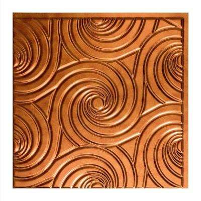 Typhoon - 2 ft. x 2 ft. Glue-up Ceiling Tile in Antique Bronze