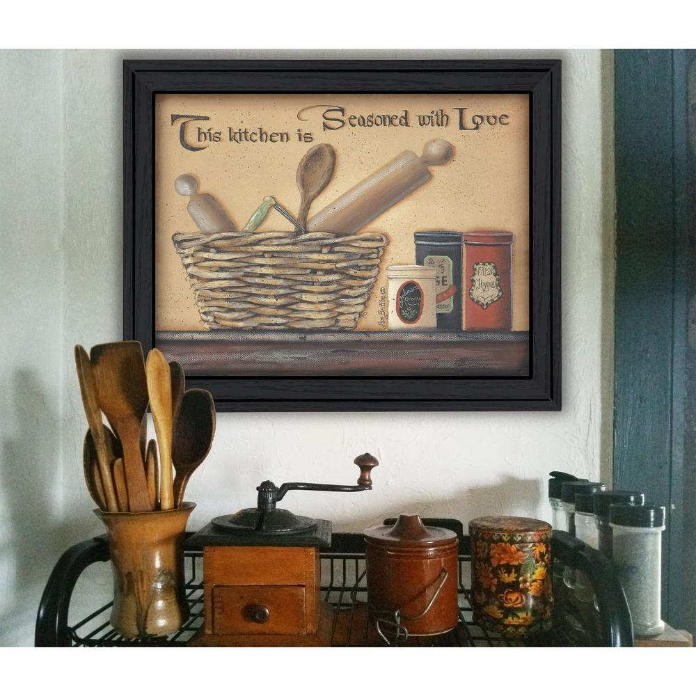 15 In X 19 In Seasoned With Love By Pam Britton Printed Framed