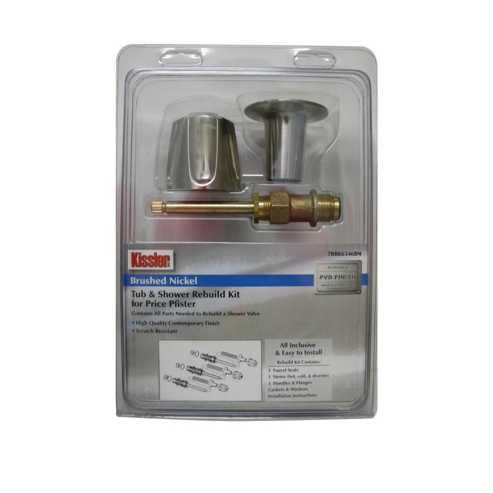 Price Pfister Shower Valve Rebuild Kit in Brush Nickel