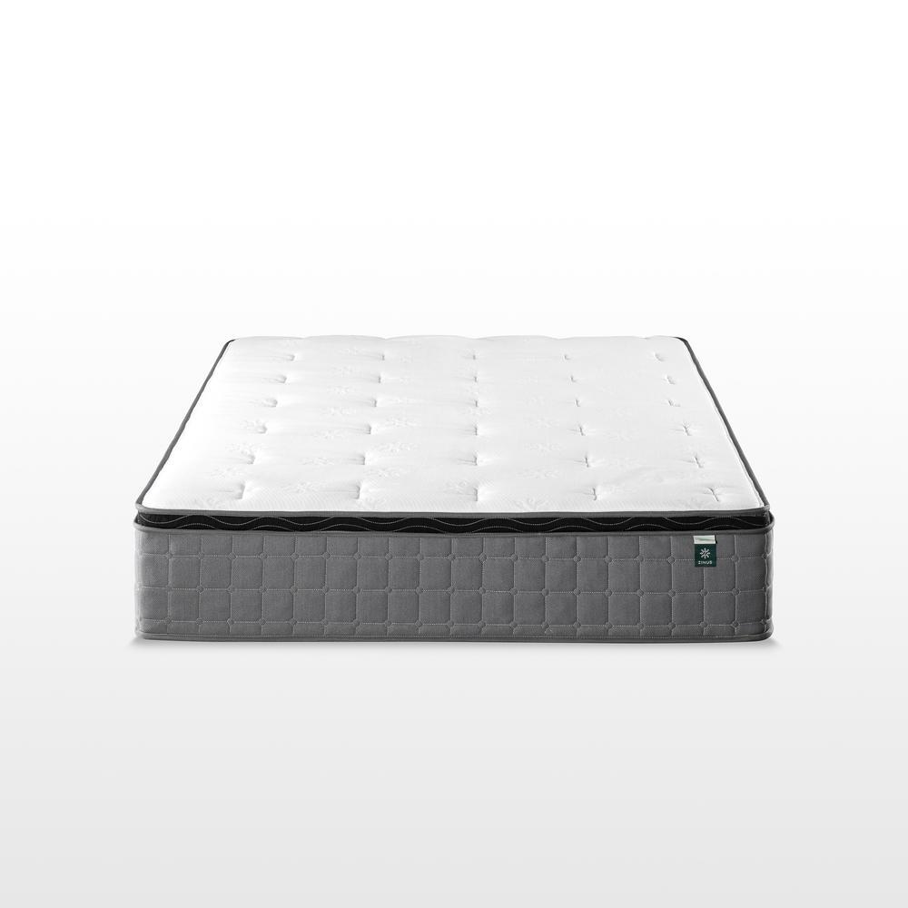 Cool Touch Comfort Gel 12 Inch Medium Euro Top Full Hybrid Mattress