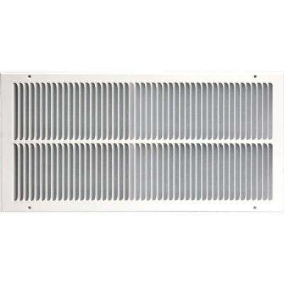 14 in. x 24 in. Return Air Vent Grille, White with Fixed Blades