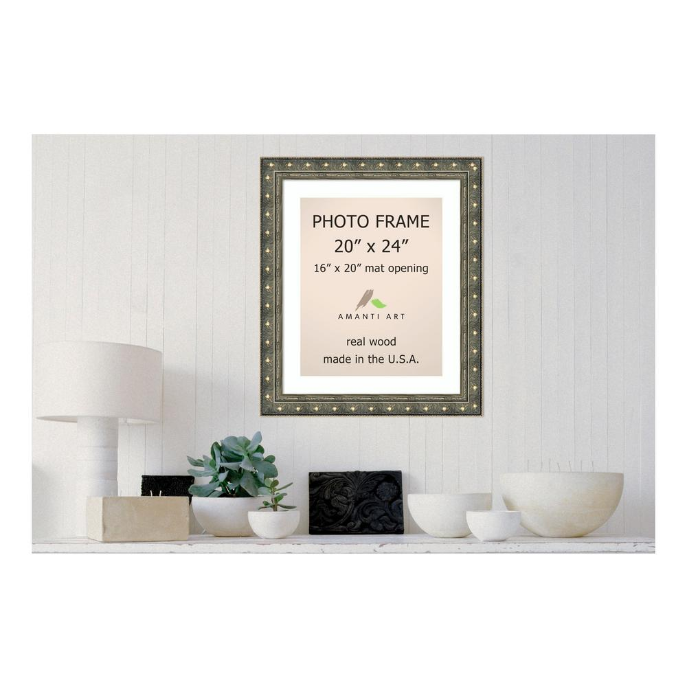 Amanti Art Barcelona 16 in. x 20 in. White Matted Gold Champagne ...