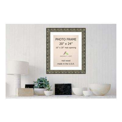 Barcelona 16 in. x 20 in. White Matted Gold Champagne Picture Frame