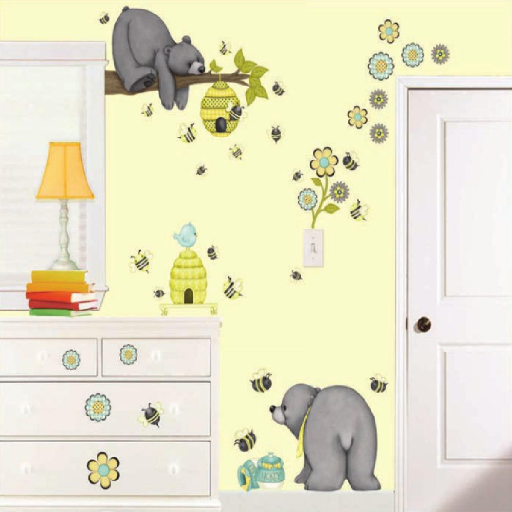 Patchwork Honey Super Jumbo Wall Decal