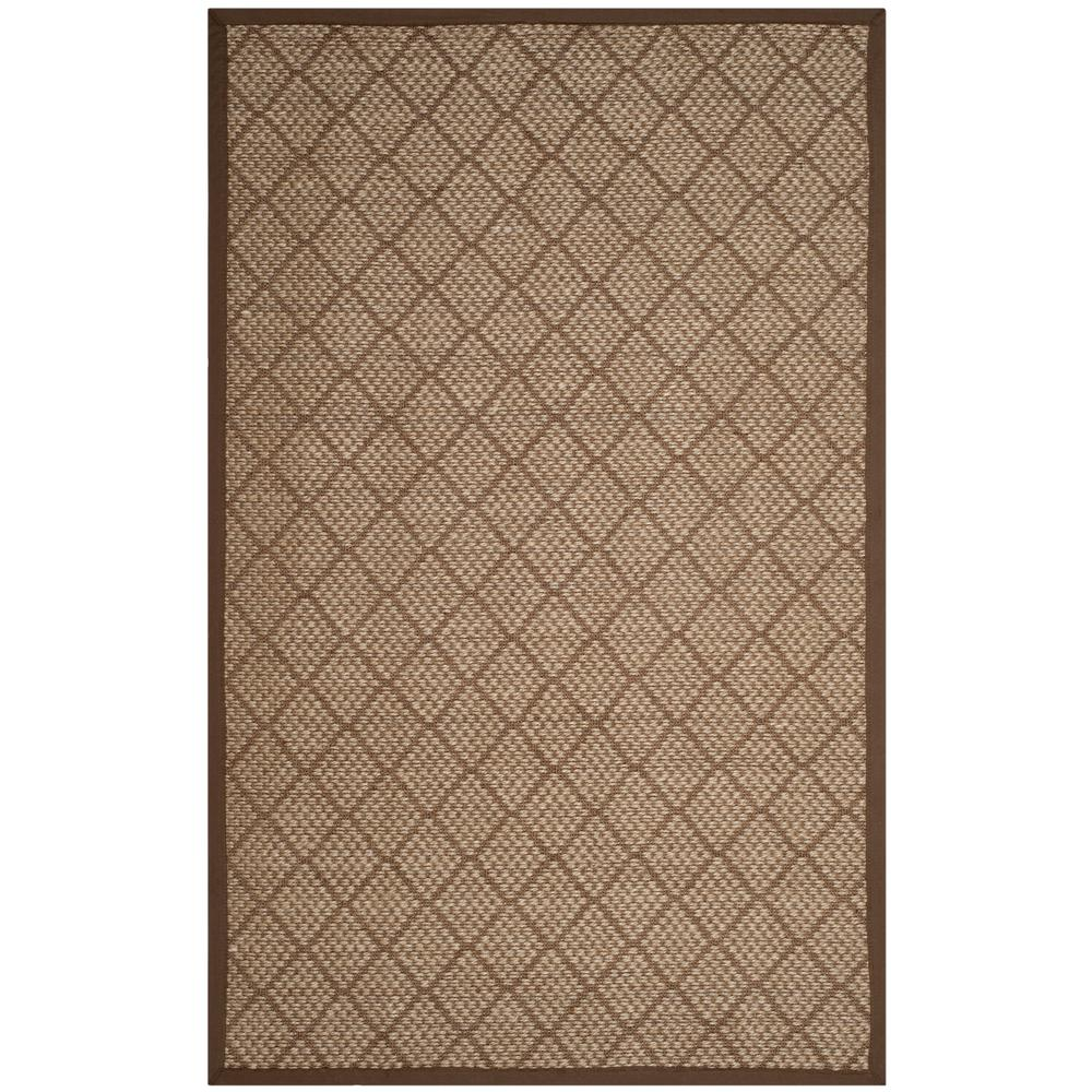 Natural Fiber Beige/Brown 5 ft. x 8 ft. Area Rug