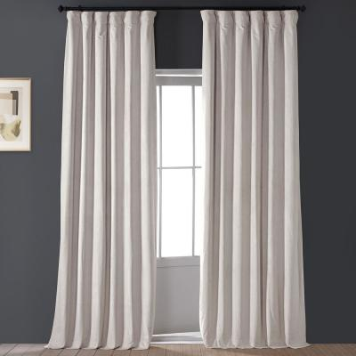 Blackout Signature Alabaster Beige Blackout Velvet Curtain - 50 in. W x 96 in. L (1 Panel)