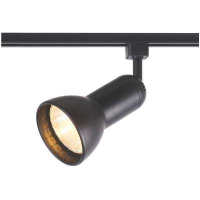 1-Light Black R30/PAR30 Large Linear Track Lighting Step Head