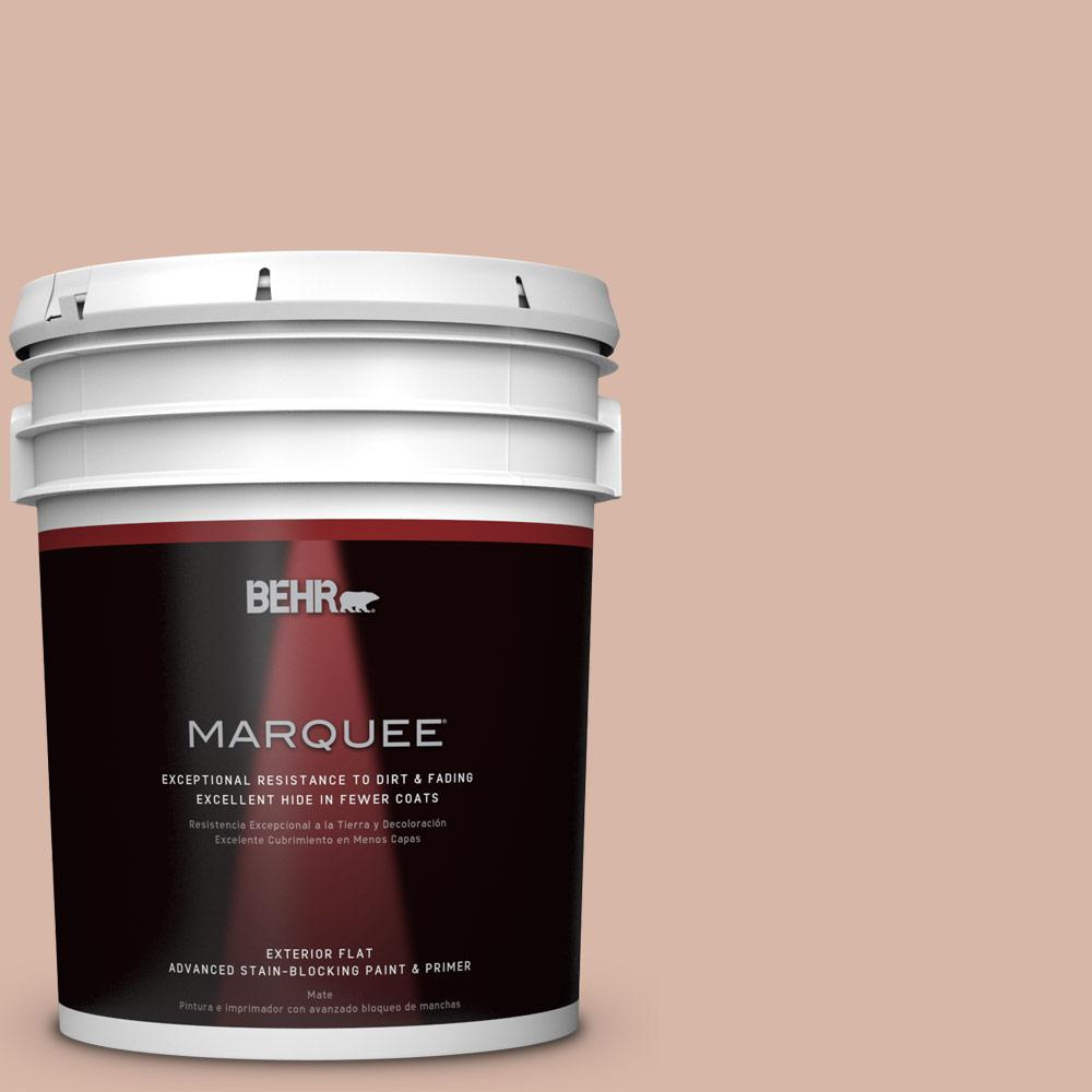BEHR MARQUEE 5-gal. #S190-3 Sedona Pink Flat Exterior Paint