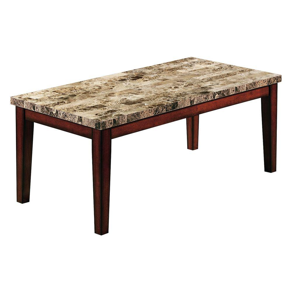 HomeSullivan Faux Marble Top Cocktail Table-DISCONTINUED