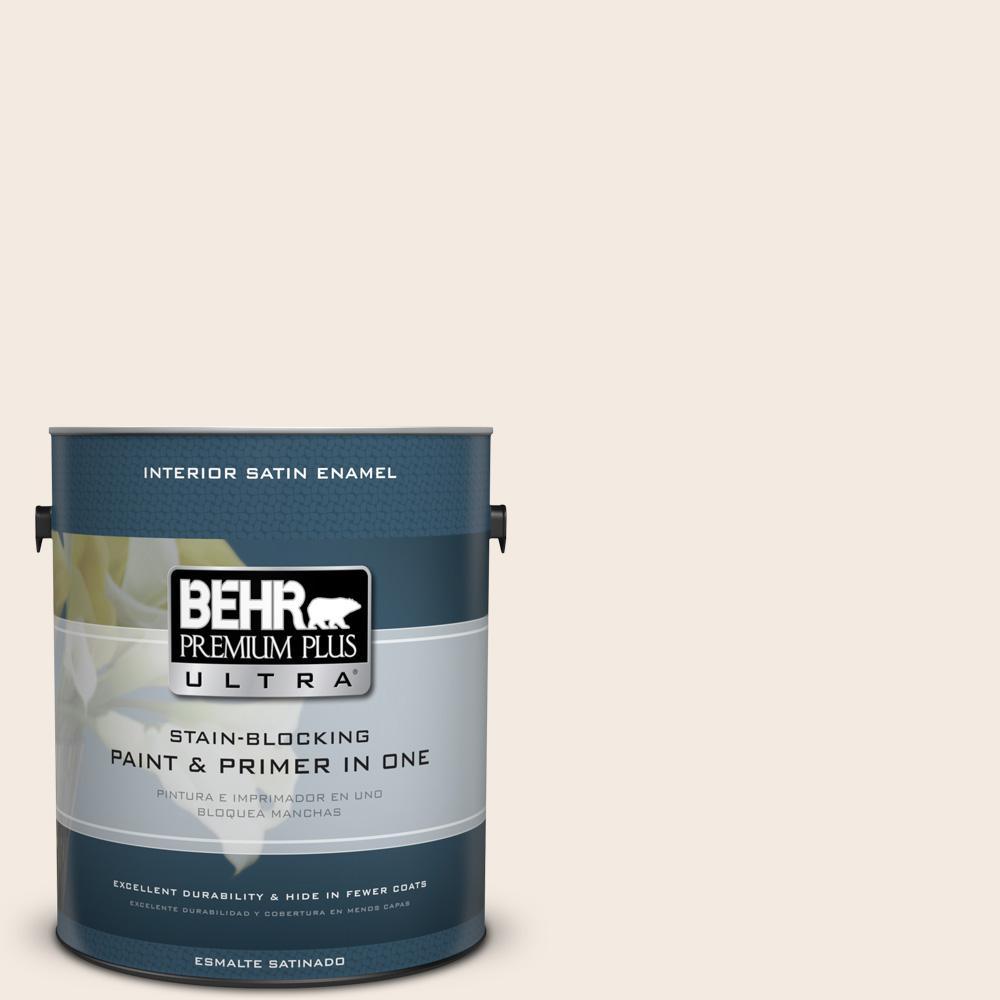 1 gal. #YL-W5 Swiss Coffee Satin Enamel Interior Paint and Primer