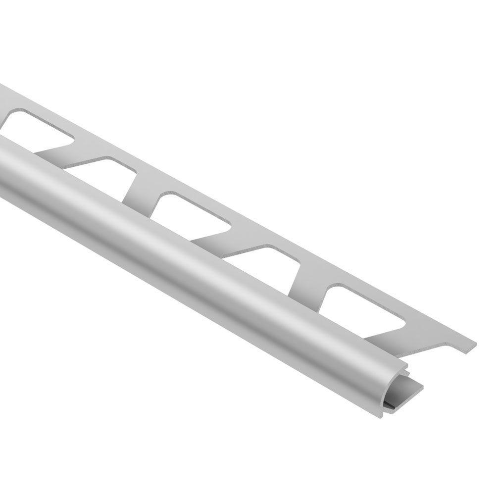 Rondec Satin Anodized Aluminum 3/8 in. x 8 ft. 2-1/2 in. Metal Bullnose Tile Edging Trim
