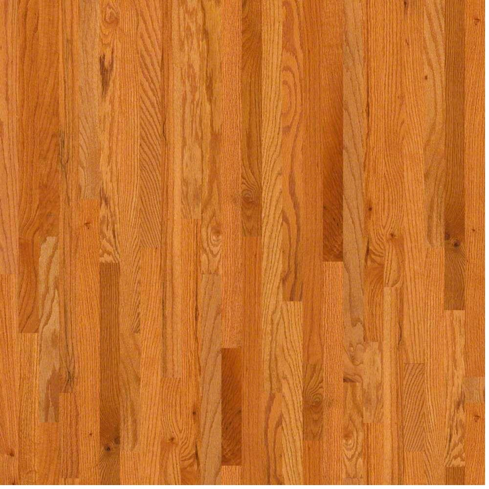 Shaw woodale carmel oak 3 4 in thick x 2 1 4 in wide x for Real wood flooring