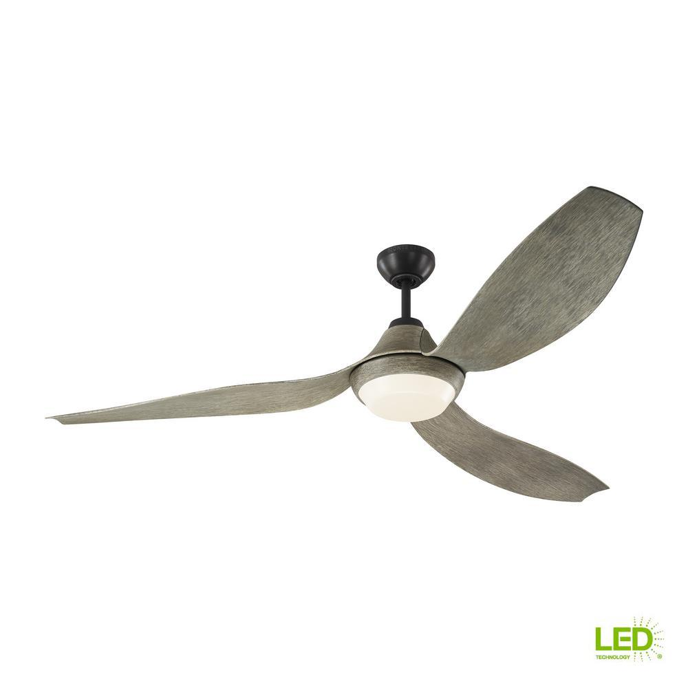 Avvo Max 64 in. LED Indoor/Outdoor Aged Pewter Ceiling Fan