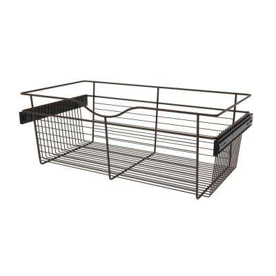 30 in. x 11 in. Oil Rubbed Bronze Pull-Out Basket