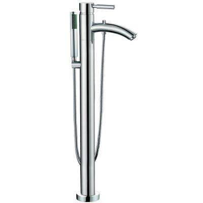 Taron Single-Handle Freestanding Tub Faucet in Polished Chrome