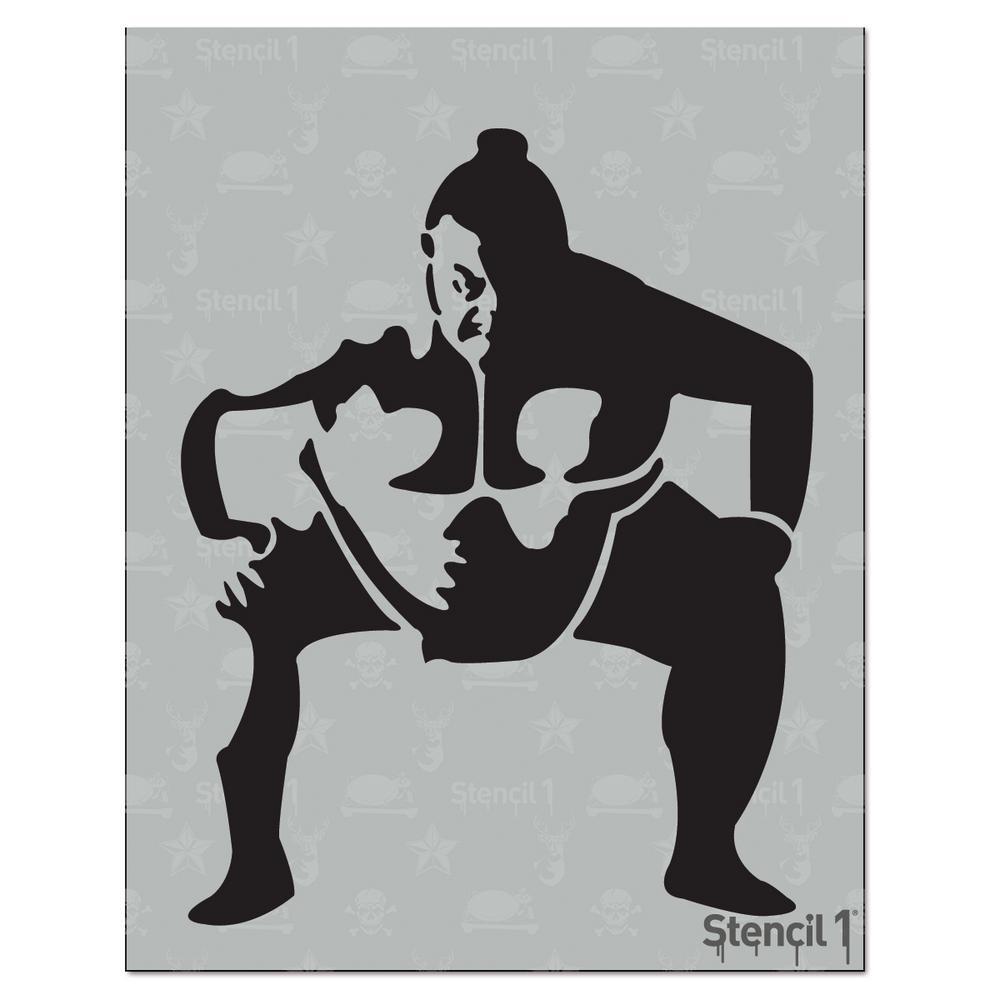 Sumo Wrestler Stencil