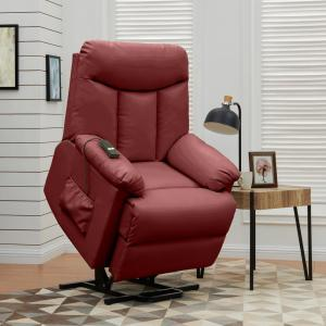 Surprising Prolounger Burgundy Red Wall Hugger Power Lift Reclining Ocoug Best Dining Table And Chair Ideas Images Ocougorg