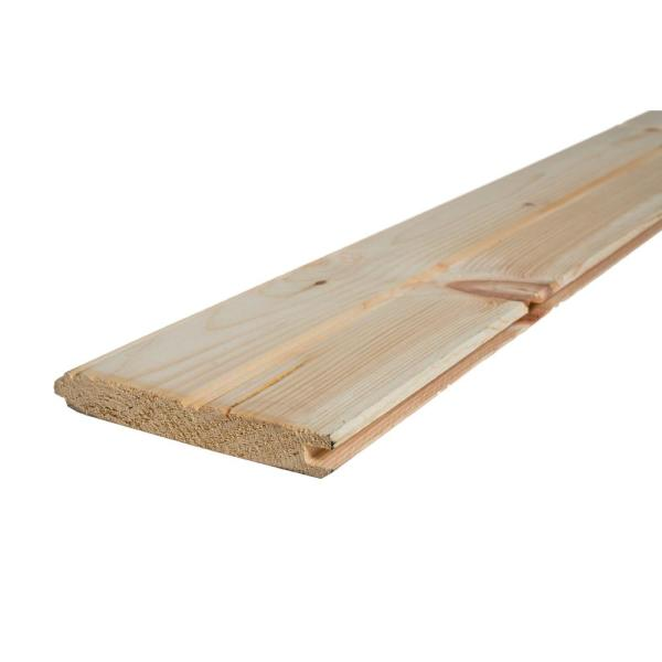 1 in. x 6 in. x 6 ft. Premium Tongue and Groove Pattern Whitewood Board