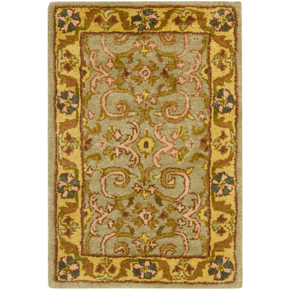Heritage Green/Gold 3 ft. x 5 ft. Area Rug