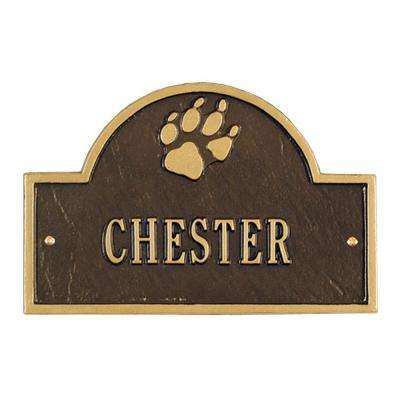 Pet Paw Mini Arch Bronze/Gold One Line Wall Marker
