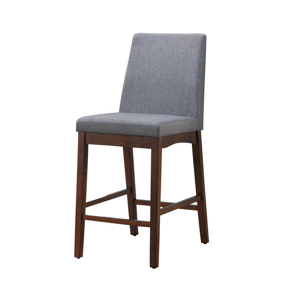 Prime Marten Brown Cherry Mid Century Modern Style Counter Height Chair Inzonedesignstudio Interior Chair Design Inzonedesignstudiocom