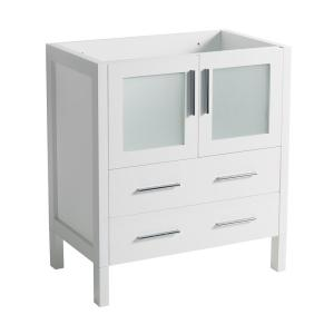 Fresca 30 in torino modern bathroom vanity cabinet in white fcb6230wh the home depot for 80 bathroom vanities without tops