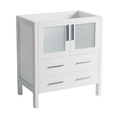 30 in. Torino Modern Bathroom Vanity Cabinet in White