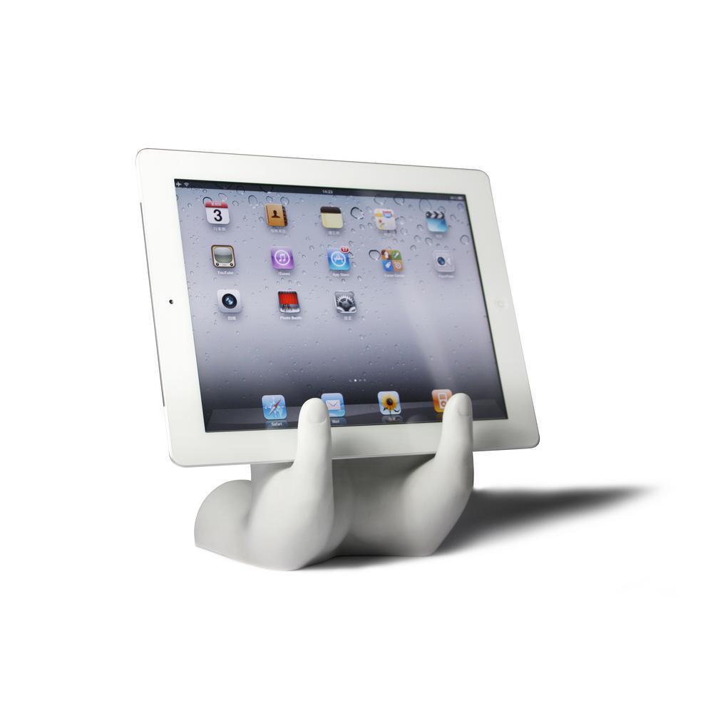 DANYA B-Hands White Resin Book or Tablet Holder