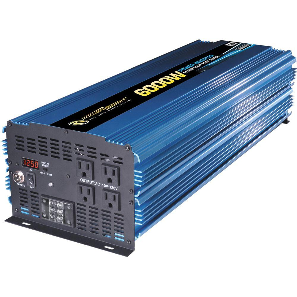 Power Bright 12 Volt DC to AC 6000-Watt Power Inverter
