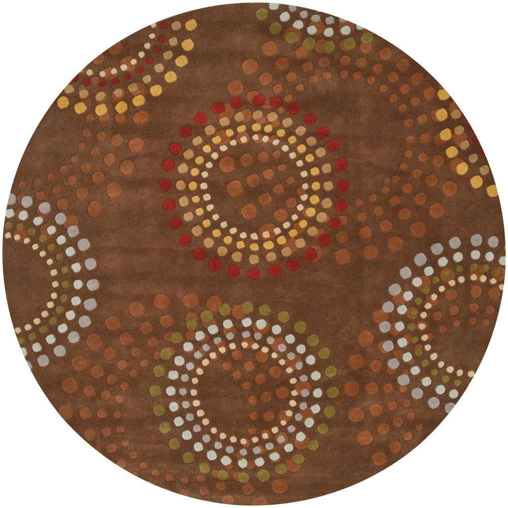 Round Rugs: Artistic Weavers Michael Brown 6 Ft. Round Area Rug-MCL