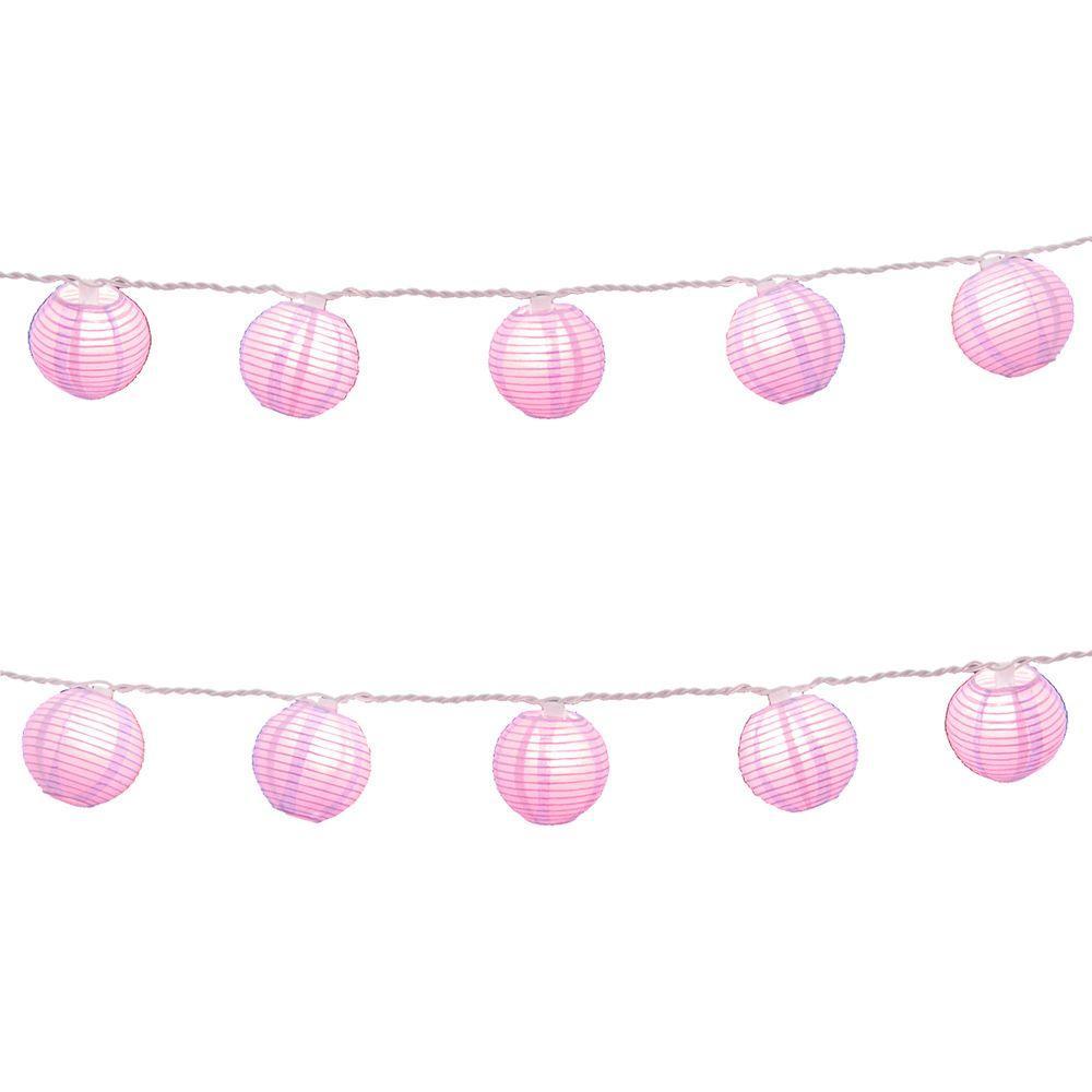 Nylon Lantern String Lights in Purple