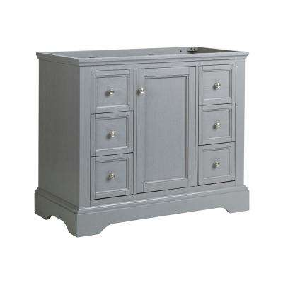 Windsor 40 in. W Traditional Bathroom Vanity in Gray Textured