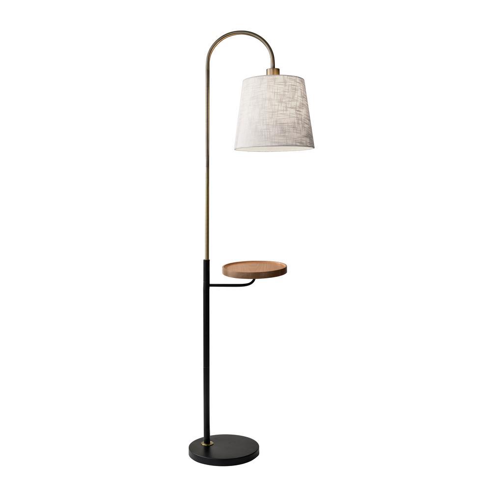Adesso Jeffrey 65 in. Antique Brass Floor Lamp
