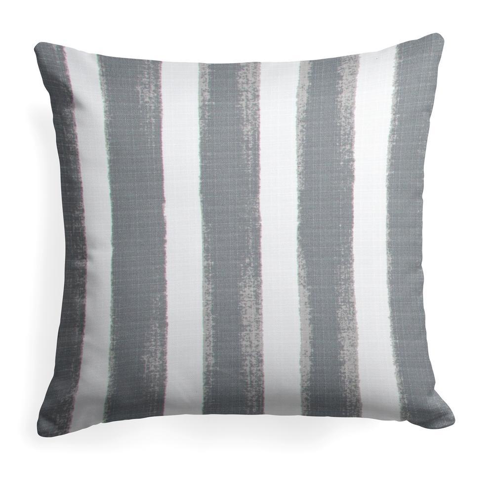 Caravan Grey Square Outdoor Throw Pillow