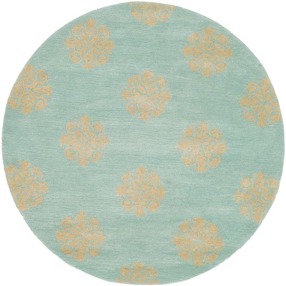 Safavieh Soho Turquoise 6 Ft. X 6 Ft. Round Area Rug