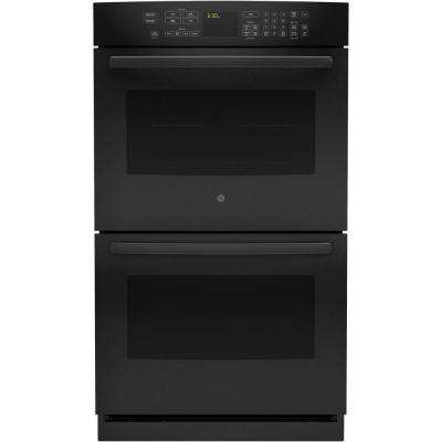Profile 30 In Double Electric Wall Oven Self Cleaning With Convection Black