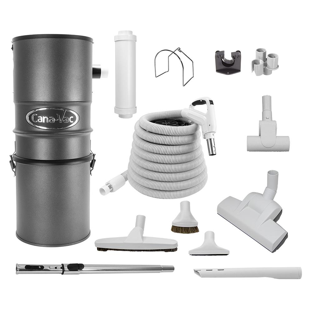 CANAVAC Central Vacuum Package for Hard Floor Surface Cleaning