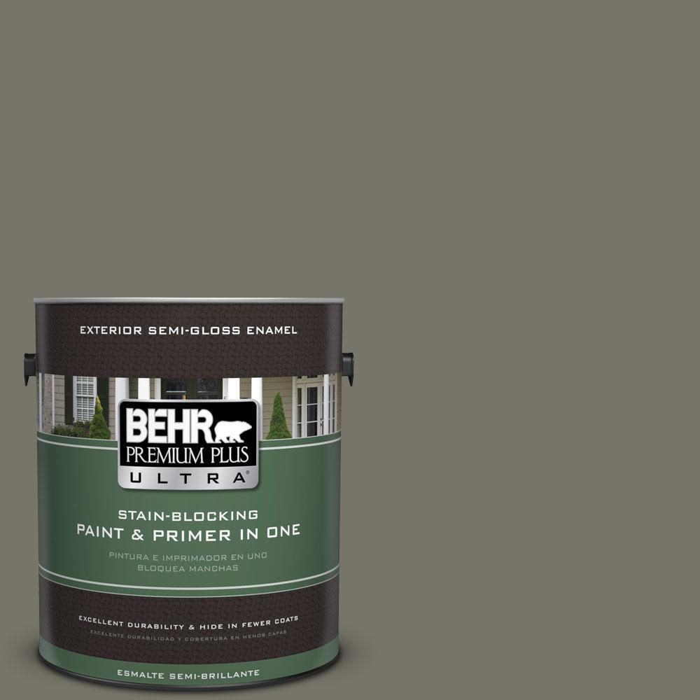 BEHR Premium Plus Ultra 1-gal. #BXC-44 Pepper Mill Semi-Gloss Enamel Exterior Paint