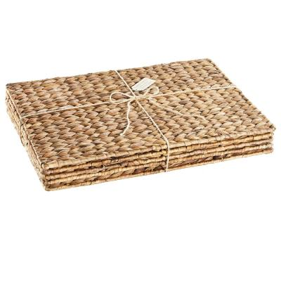 Garden Terrace Rectangle Placematts s/4, 19.5x13.5, Water Hyacinth