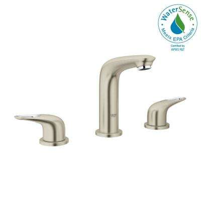 Eurostyle 8 in. Widespread 2-Handle Bathroom Faucet in Brushed Nickel Infinity
