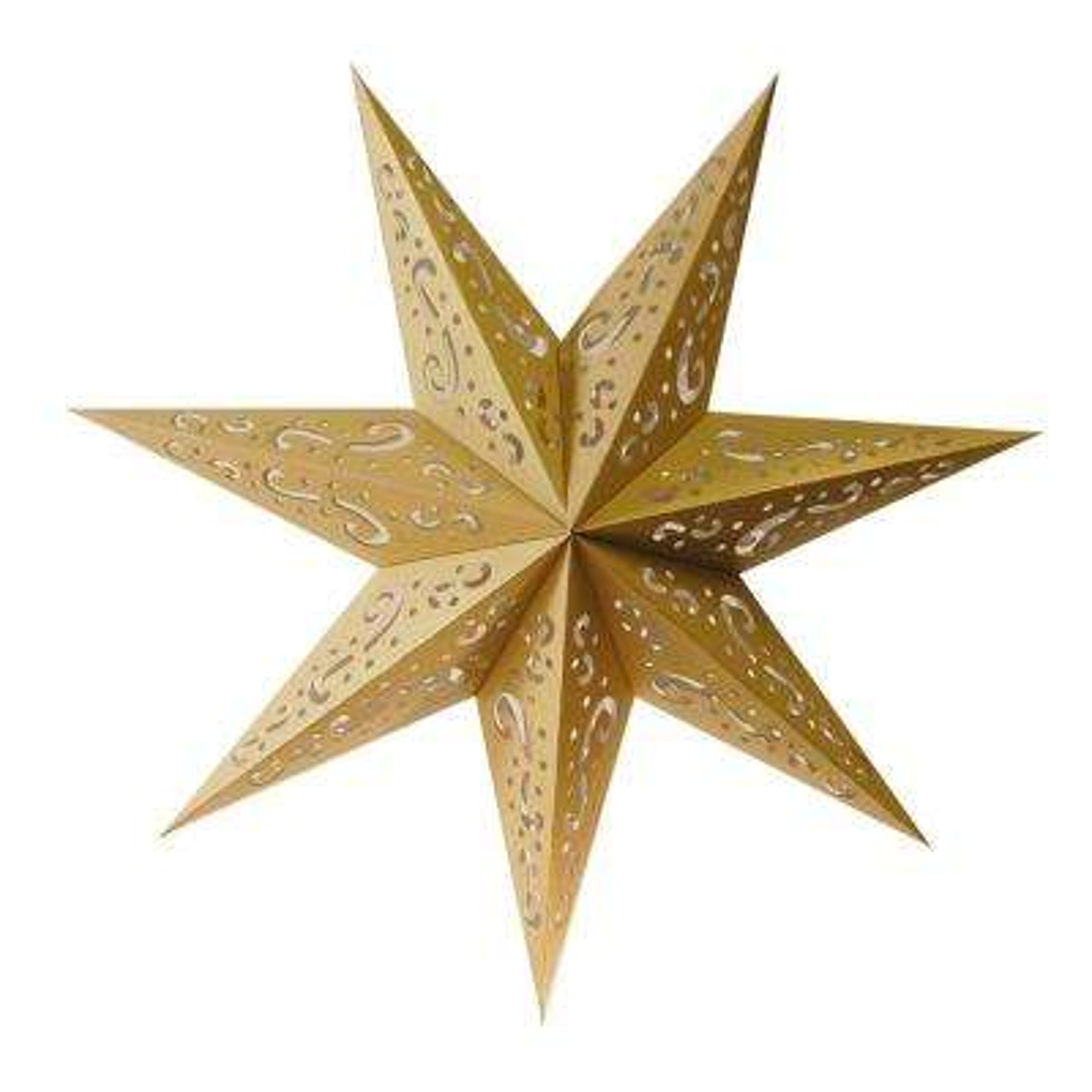 Paper Lantern Gold 7 Point Star (3- Pack)