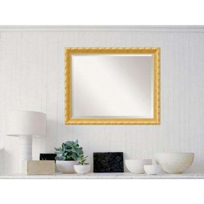 Versailles Gold Wood 32 in. W x 26 in. H Traditional Framed Mirror