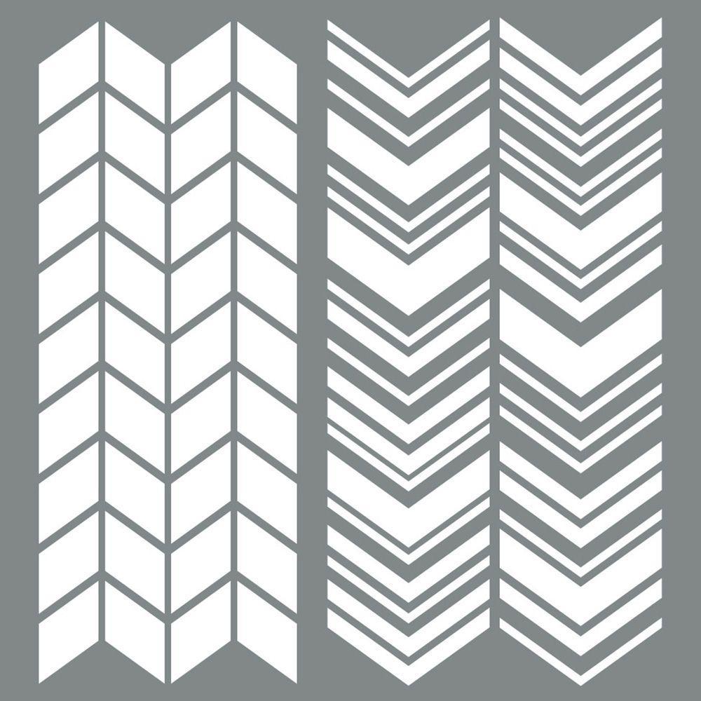 Americana Decor 6 in. x 6 in. Split Angles Stencil