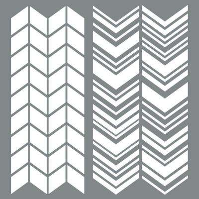 Americana Decor 6 in. x 6 in. Split Angles Stencil