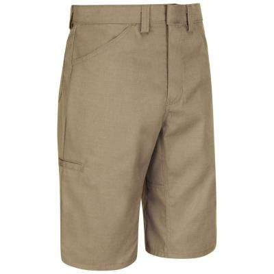 Men's Size 46 in. x 13 in. Khaki Lightweight Crew Short