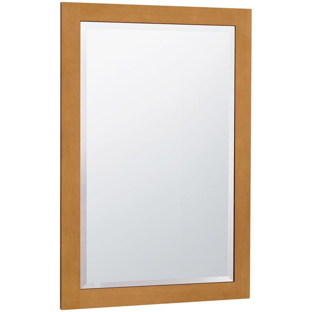 MasterBath 32 in. L x 20 in. W Wall Mirror in Cinnamon