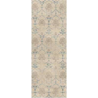 Washable Leyla Creme Vintage 3 Ft X 7 Runner Rug