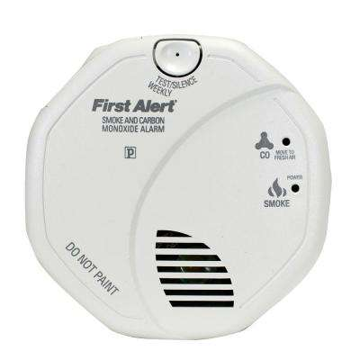 Hardwired Interconnected Smoke and Carbon Monoxide Alarm with Voice Alert